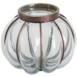 Beautiful Blown Glass Candle Holder
